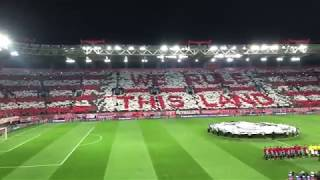 Olympiacos F.C. vs F.C.Barcelona: 0-0, 31/10/2017, amazing coreo of red Fans,{4K}.
