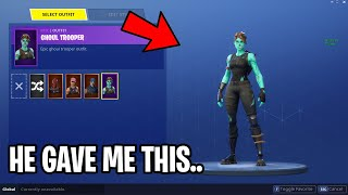 The Nicest Default Gifted Me His First Skin... (Fortnite)