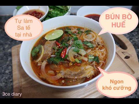 Cách nấu BÚN BÒ HUẾ tại nhà cực kỳ đơn giản dễ làm vietnamese spicy beef noodle soup.