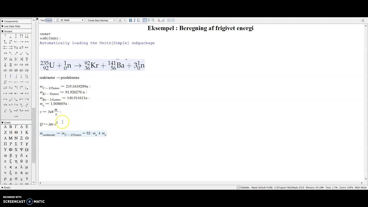Fysik B Masse til energi