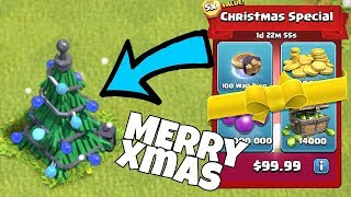 "100 Million Loot!! XMAS UPDAte!! ""Clash Of Clans"" Gem spree!"