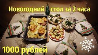 Новогодний экономный стол за 2 часа на 1000 рублей