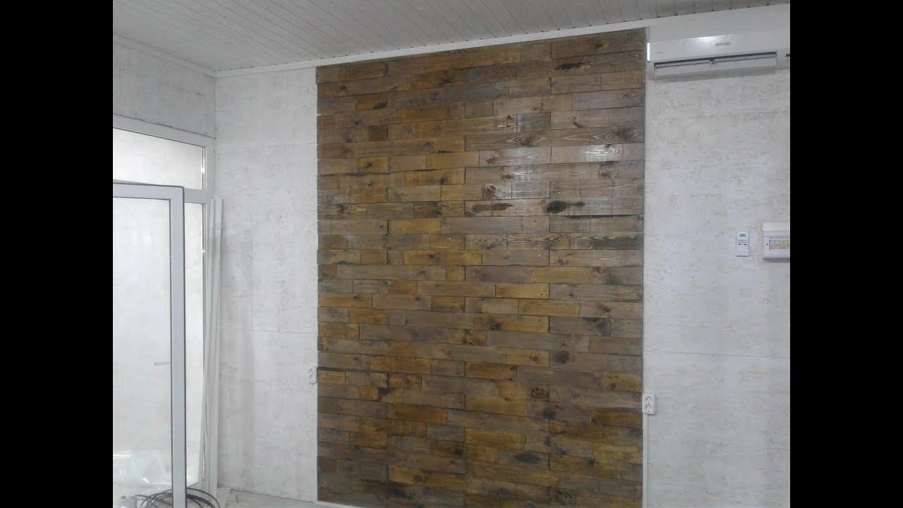 Декор стен деревом . Отделка стен доской - YouTube