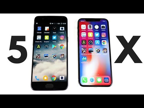 Thumbnail: OnePlus 5 vs iPhone X Speed Test!