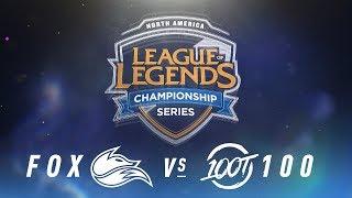 FOX vs. 100 - Week 5 Day 1 | NA LCS Spring Split | Echo Fox vs. 100 Thieves (2018)