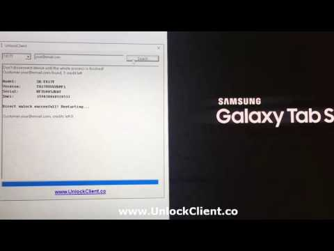 how to unlock samsung Tab S2 T817A T817T T817W T815 T715 T819  by unlockclient co