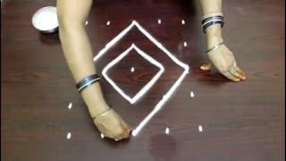 chukkala muggulu designs with 5x5 dots- kolam designs with dots- simple rangoli designs with dots