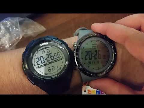 Обзор часов часов SKMEI 1246 с aliexpress (тест на водонепроницаемость) Очень тусклая подсветка