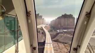 Монорельс на Пальме В ОАЭ. Palm Jumeirah monorail in Dubai(, 2013-08-30T07:27:58.000Z)