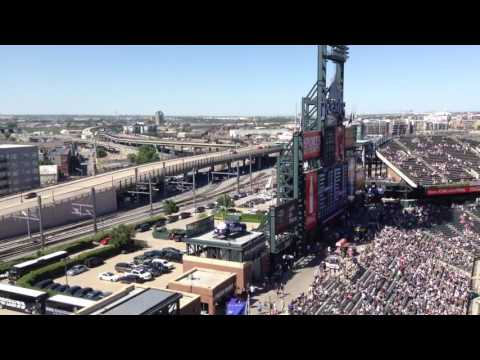 RTD A-Line action from Coors Field