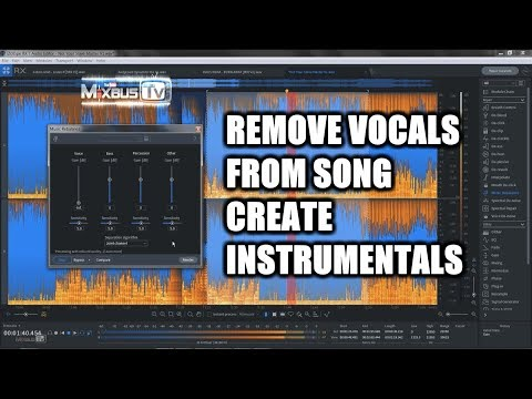 Remove vocals from a song to create instrumentals or isolate vocals for remixes, samples, rebalance