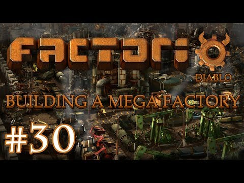 Factorio - Building a Mega Factory: Part 30, iron plate station, finished steel and solar almost.