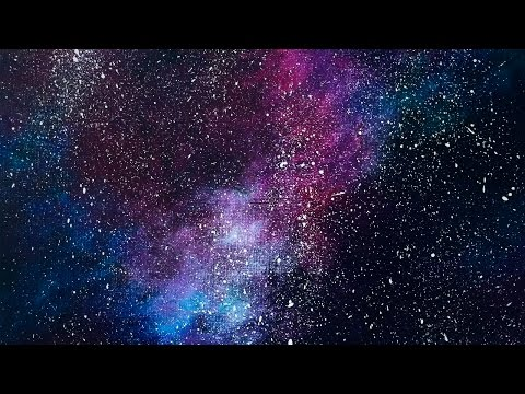 Night sky speed painting doovi for How to paint galaxy