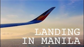 Philippine Airlines Descent and Landing at NAIA | Manila, Philippines | Wandering M