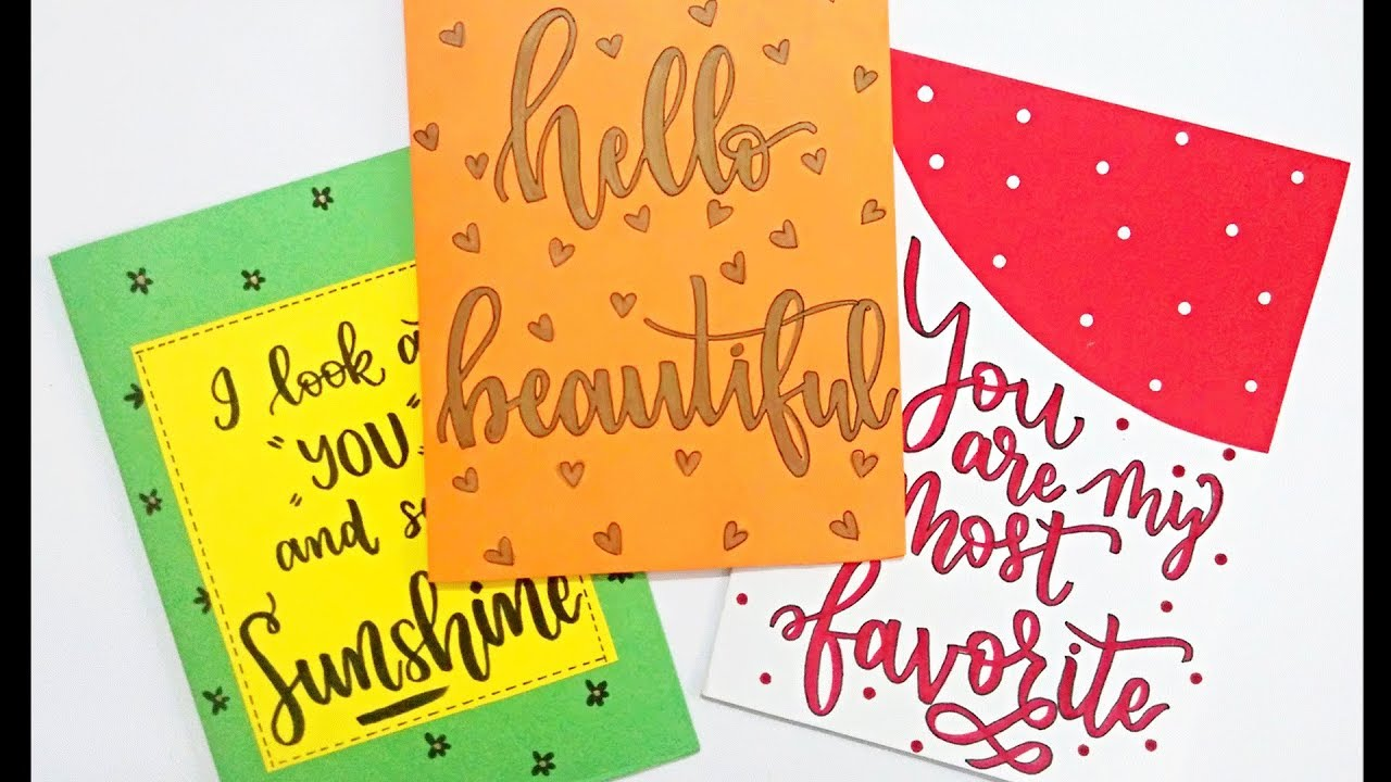 How To Diy Greeting Cards 3 Easy Quick Greeting Cards Ideas