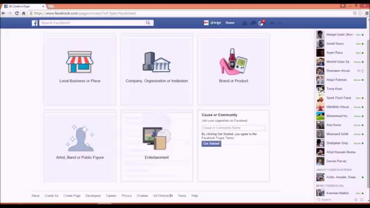 how to create a closed facebook page