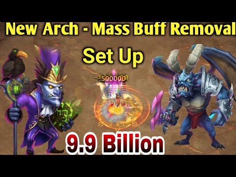 NEW Archdemon - Mass Buff Removal   9.9 Billion😳😳   Full Set Up   Walla Walla😎   Castle Clash