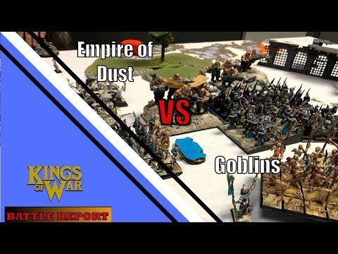 Kings of War Battle Report 61: Empire of Dust VS Goblins