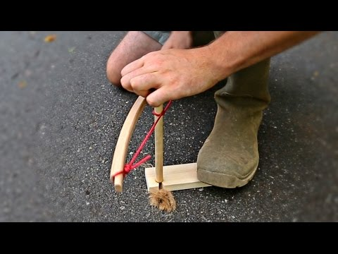 How to Start Fire with Bow Drill Fire Kit