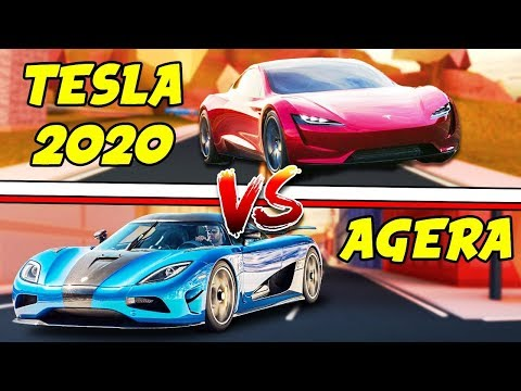 Roblox Jailbreak NEW MILLION DOLLAR CARS!? Tesla Roadster 2020 and Agera R!