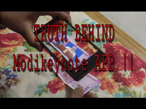 Modi key note app -viral video (TRUTH) - security feature in currency notes