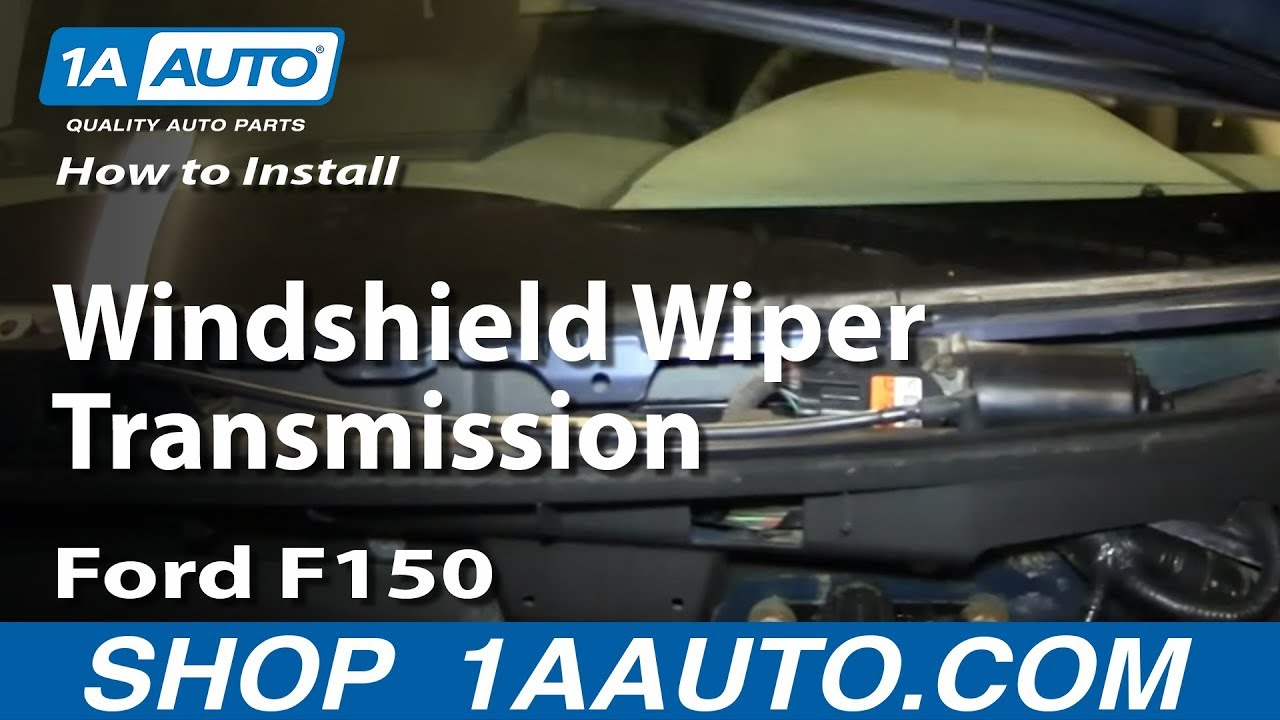 How to install replace fix windshield wiper transmission for How do you replace a windshield wiper motor