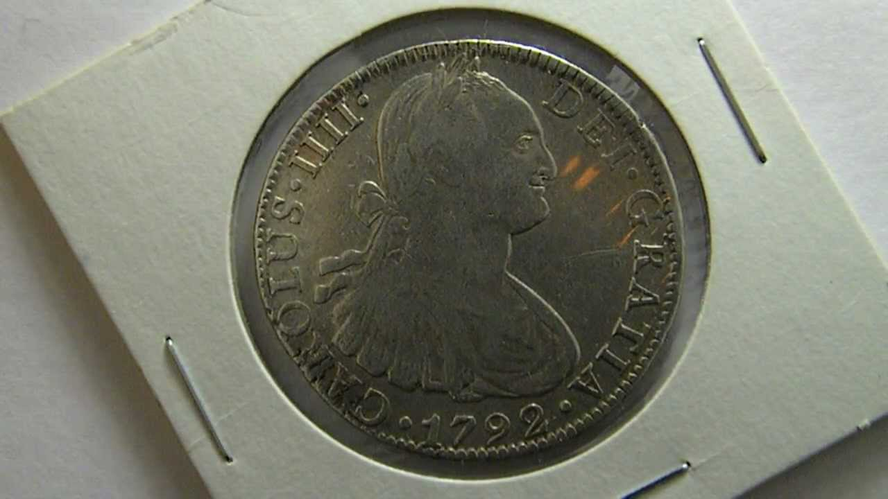 Monedas Antiguas de México - 8 Reales Carolus IIII 1792 FM ...