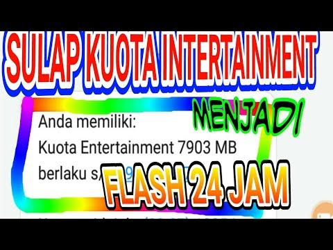 Sulap kuota intertainment menjadi kuota flash 24 jam dgn mudah