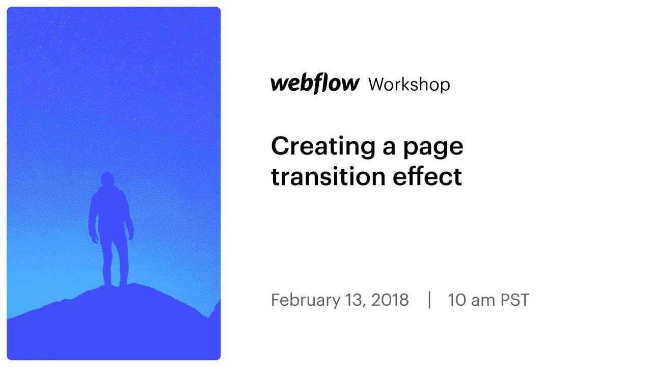 Creating a page transition effect