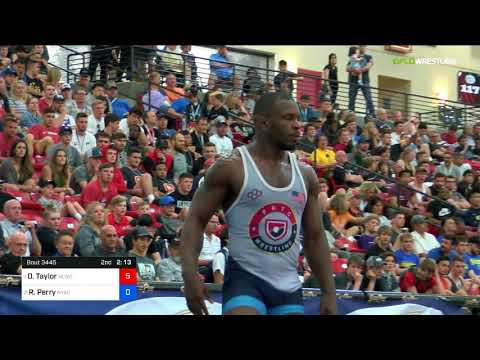 2018 Marine Corps US Open/Senior Men's Freestyle 86 Finals - David Taylor (NLWC) Vs. Richard Perry