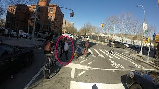 Why Bikers Have to Roll Past Pedestrians and Beat Cars at Traffic Lights