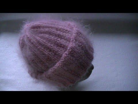 Вязать шапки из мохера спицами схемы