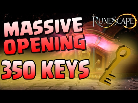 MASSIVE RuneScape Treasure Hunter Chest Opening!! • 350 KEYS!!