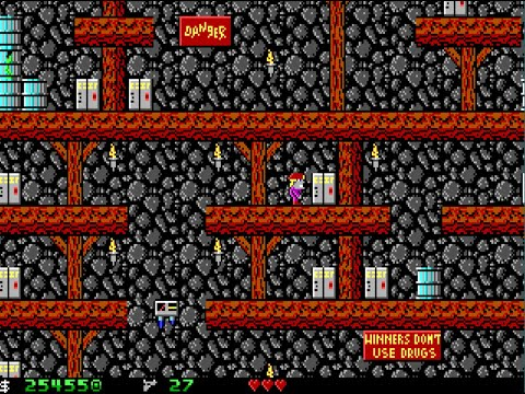 Apogee Crystal Caves I, Troubles With Twibbles, 1991. Level 14 Walkthrough