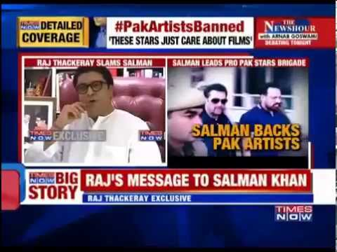 Brilliant Reply by Raj Thackeray to Salman Khan for supporting Paki Artists