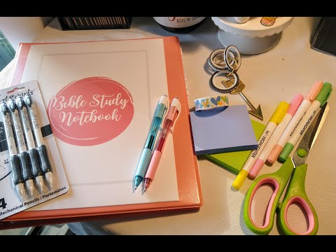 Back-to-school Bible Study Supplies!!! Dollar Store Finds!