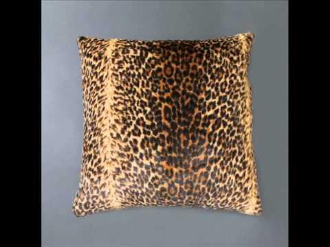 kushy cushy faux fur pillow cover collection animal print throw pillows