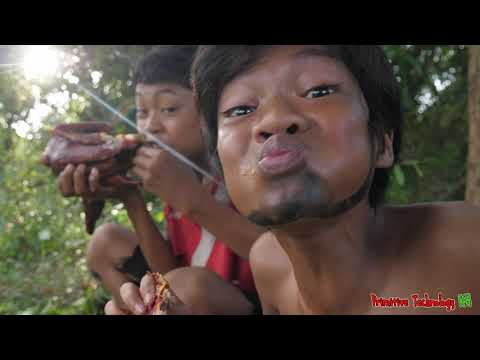 Primitive Technology - Cooking And Braised Duck Eating Delicious In Jungle For Diner #157