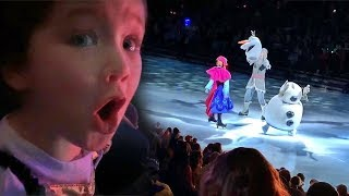 Surprising Adley with Disney FROZEN 2 on ice! her PRINCESS DREAMS came true with Anna and Elsa!!