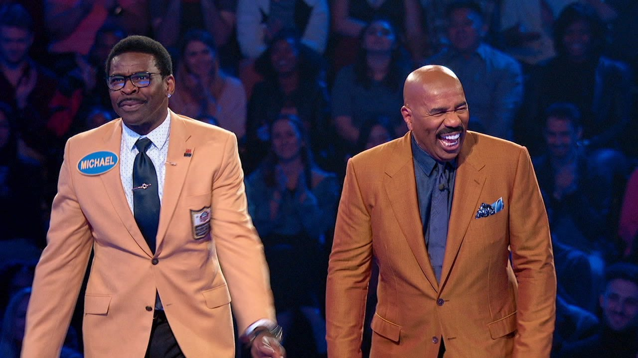 Michael Irvin's Hyped Up 'Fast Money' - Celebrity Family Feud