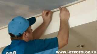 видео тканевые натяжные потолки