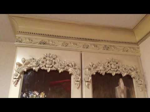 How to Make Carved Wood and Glass Upper kitchen Cabinets