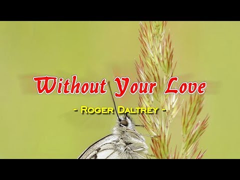 Without Your Love - Roger Daltrey (KARAOKE)