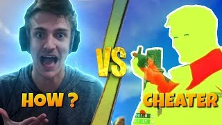 NINJA GETS REKT BY A CHEATER!!! | Fortnite Battle Royale