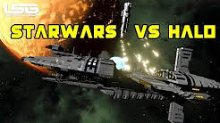 Starwars Vs Halo Frigate Face Off - Space Engineers