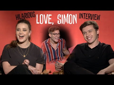 Nick Robinson & Katherine Langford Love, Simon HILARIOUS   Heartbreaks & gay love  AD