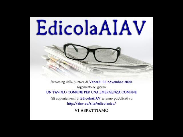 EdicolaAIAV - Un tavolo comune per un'emergenza comune