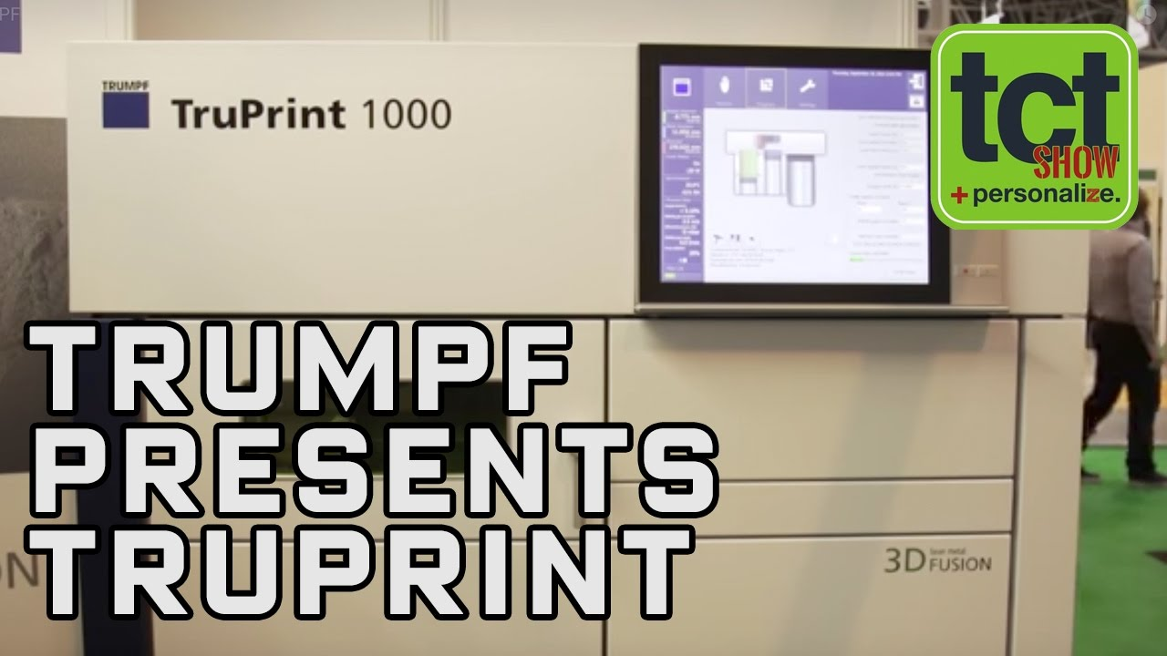 Trumpf TruPrint 1000 metal 3D printer makes UK debut | TCT Show