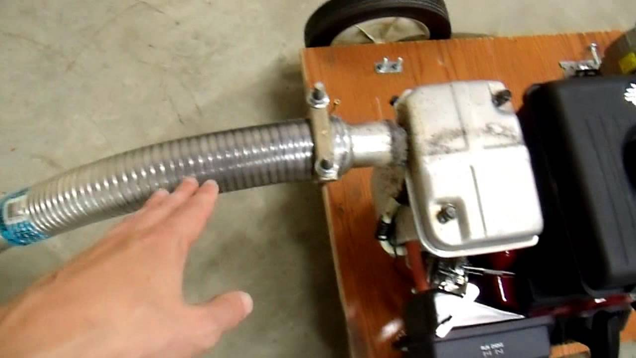 quiet that generator with a muffler and an automotive exhaust diy 12v generator charger 8