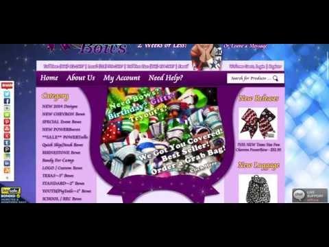 Powerbows Cheerleading Hair Bows Website